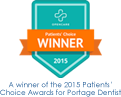 Winner of 2015 Patients' Choice Awards for Portage Dentist